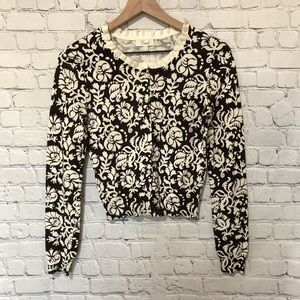 Fossil Brown And Cream Floral Cardigan